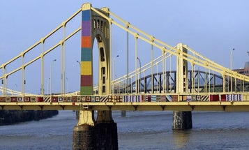 A Yarn-Bombed Bridge And Other Amazing Images From This Week