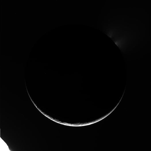 Cassini Flies Right By Saturn's Moon Enceladus, Snapping New Up-Close Pics