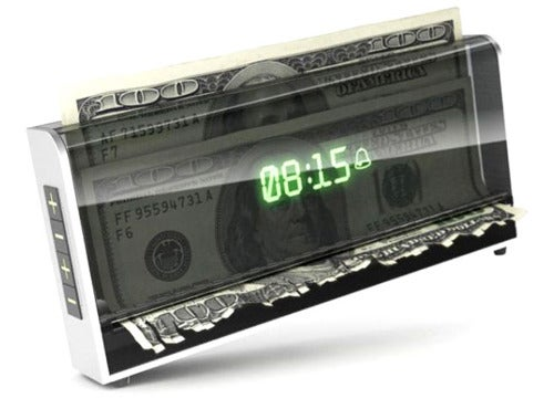 Shredder Clock Destroys Your Money Unless You Wake Up