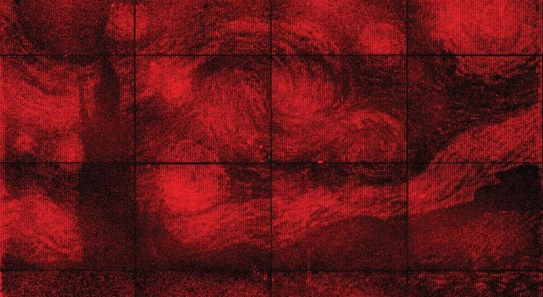 Folded DNA Used To Recreate Van Gogh's 'Starry Night'