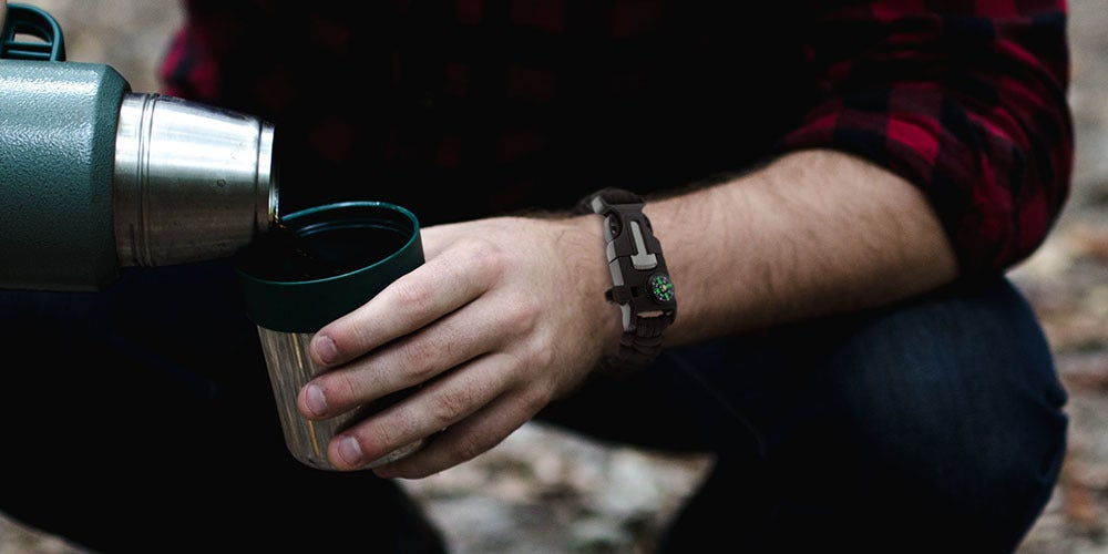 This 5-In-1 survival bracelet is a must-have for your next outdoor adventure