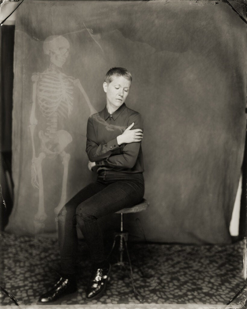 skeletal presence in photo