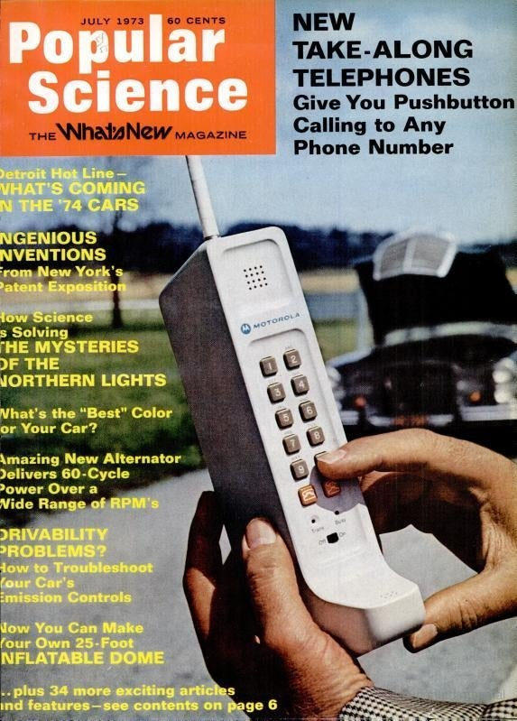 The cover of Popular Science, July 1973