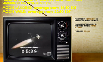 Watch the Apollo 11 Landing Live, Just as Cronkite Called It
