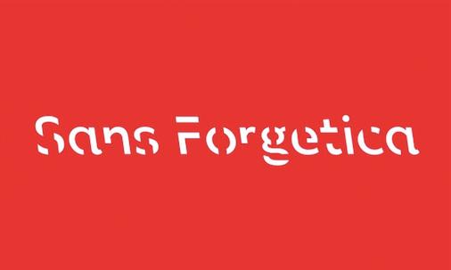 Sans Forgetica font sample