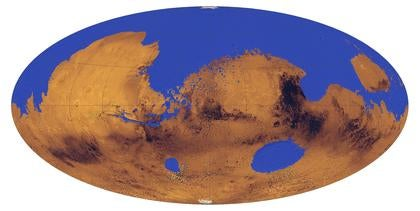 A Huge Ocean Likely Covered More Than a Third of Mars 3.5 Billion Years Ago