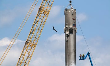 This Is How SpaceX Unloads A 15-Story Rocket Off A Drone Ship