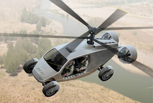 DARPA Asks for a Flying Car, Gets a Dual-Rotor Road Warrior Turned Helo