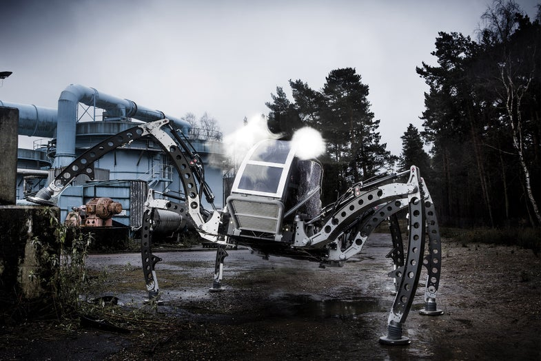 Ride This: An SUV-Size Insectoid Robot