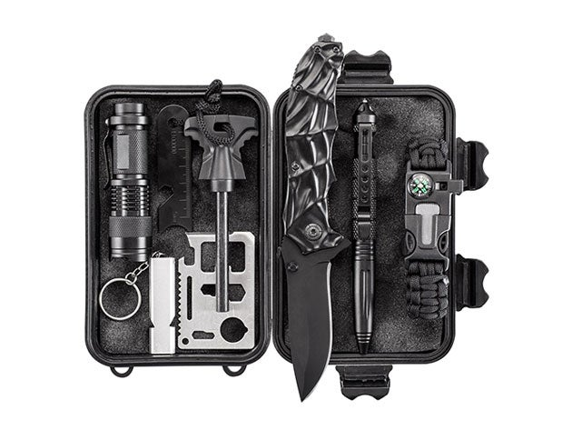 This 10-in-1 survival kit is an essential addition to your outdoor gear