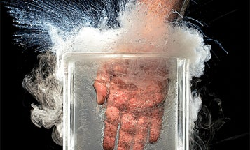Gray Matter: In Which I Fully Submerge My Hand in Liquid Nitrogen [Video]