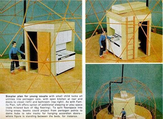 Dome Home Interior Design: April 1974