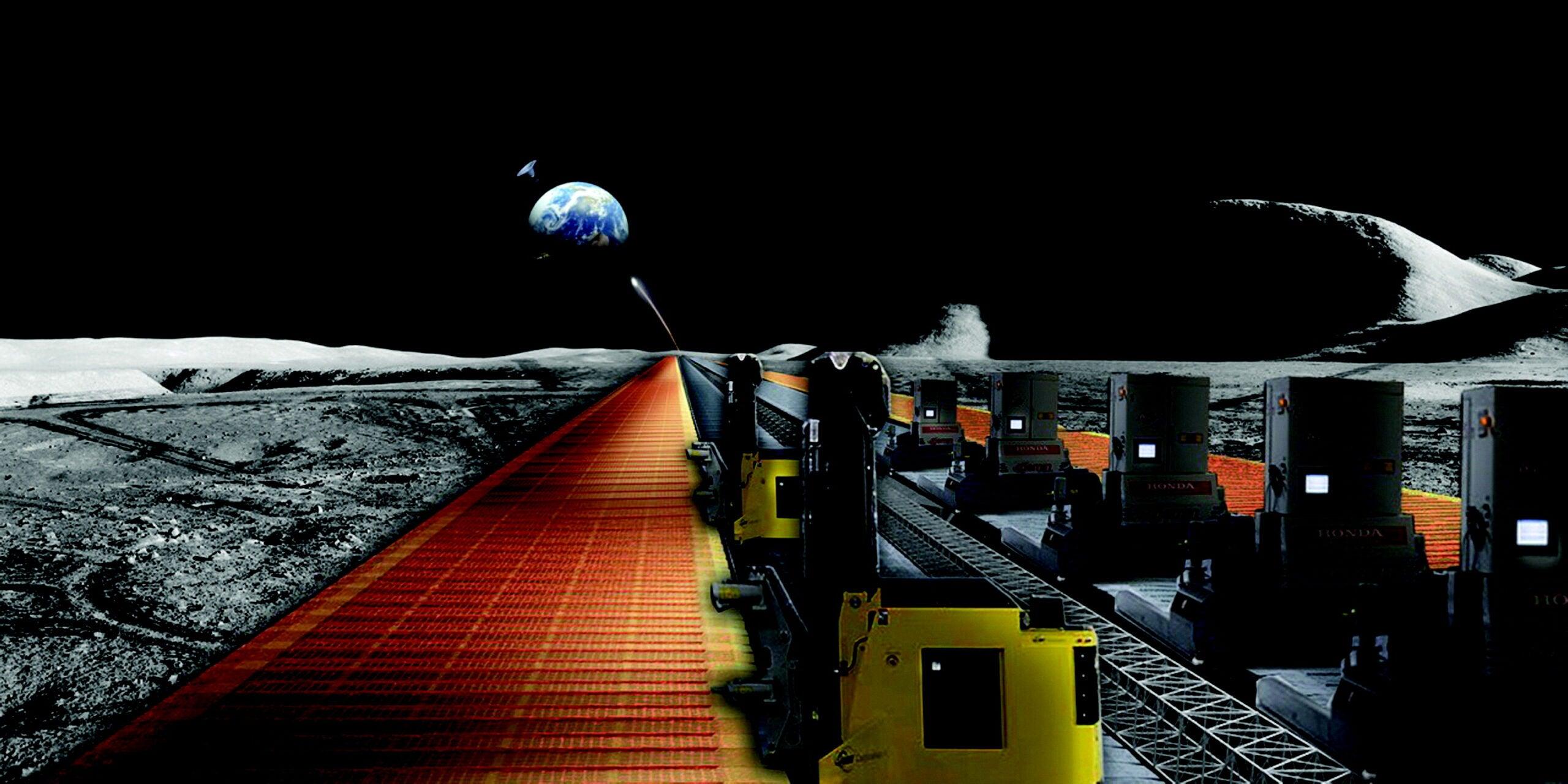 solar panel factory on the moon