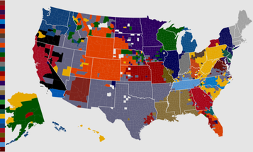 A Map Of NFL Team Allegiance
