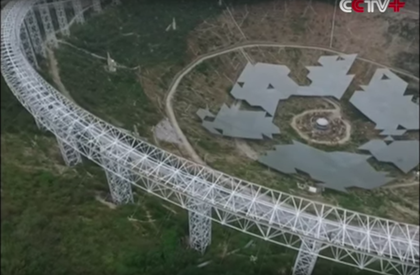 Drone Video: The Gigantic New Telescope China's Building To Hunt Aliens