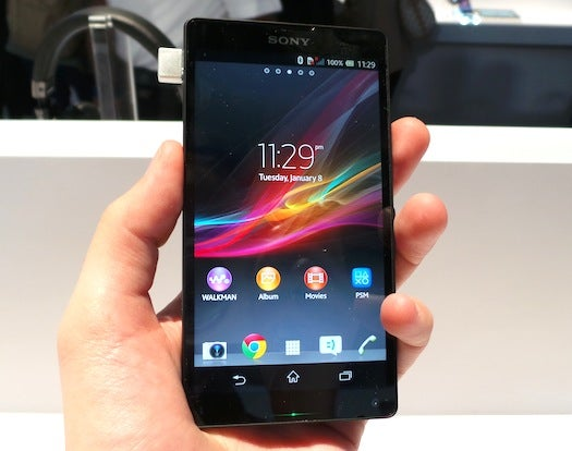 CES 2013: Hands On With Sony's Waterproof Xperia Z Smartphone