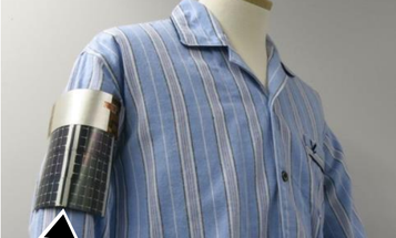 A Solar Panel You Wear On Your Arm