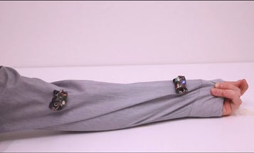 Tiny Fabric-Clinging Robots Are A Fashion Statement