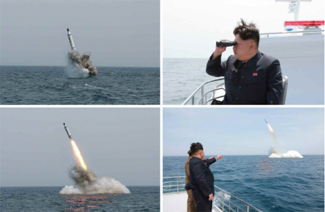 North Korean News Media Pictures Of Missile Launch