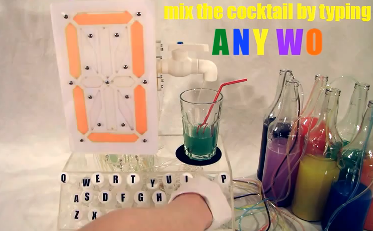 Video: Hydraulic Beverage-Making Typewriter Turns Words Into Mixology