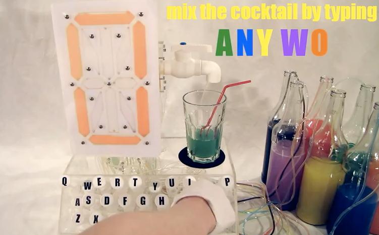 Video: Hydraulic Beverage-Making Typewriter Turns Words Into Mixology