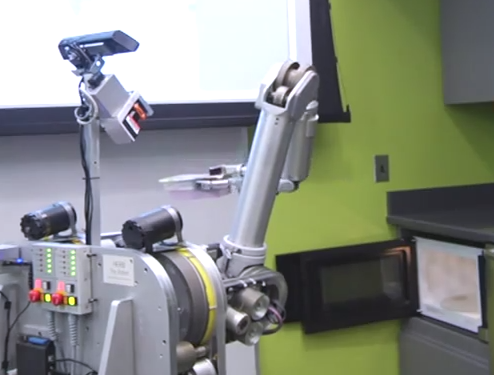 Video:  Herb the Robot Butler Microwaves Your Dinner For You