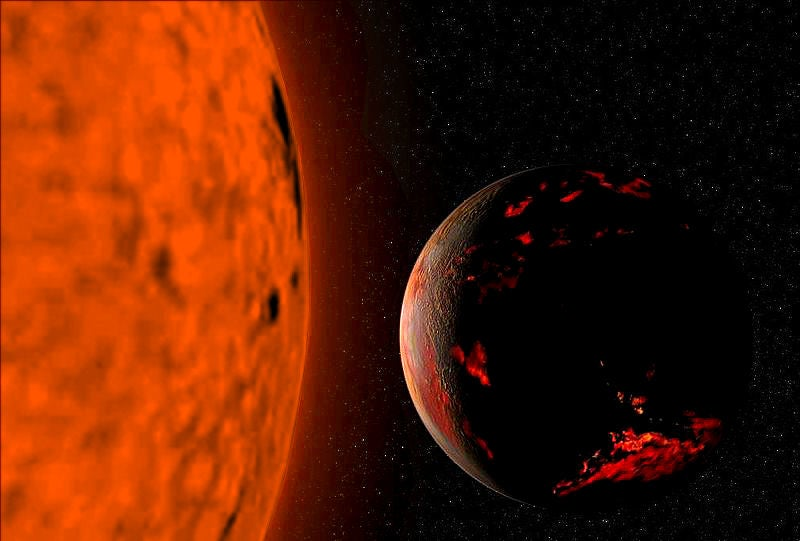 Distant Red Giant Caught Devouring One of Its Planets