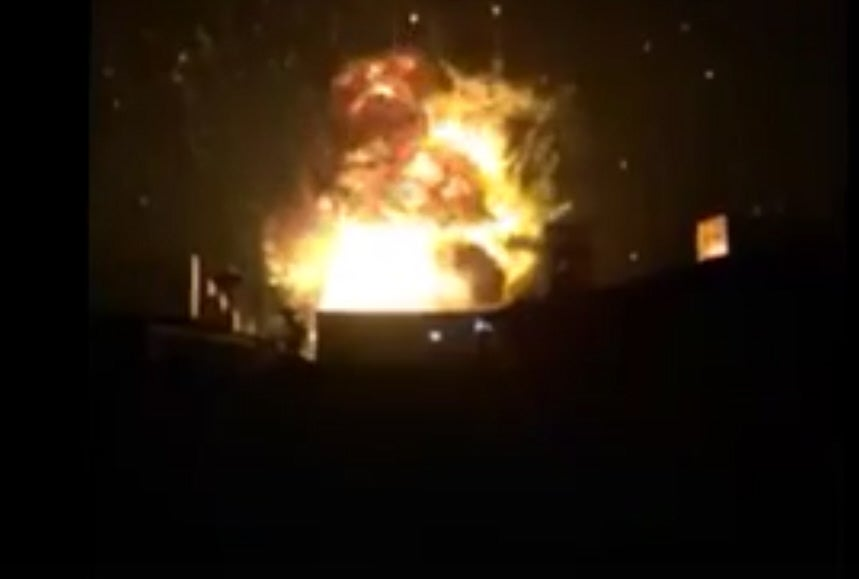 Massive Explosion In Tianjin, China