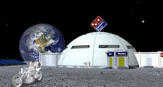 Japanese Domino's Unveils Elaborate, Carefully Thought-Out Plans to Sling Pizza on the Moon