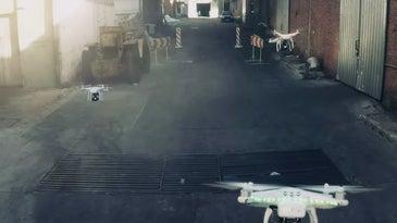 Drones Racing In A Soap Factory