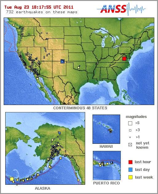 Earthquake Strikes East Coast, Centered Near Richmond, Virginia