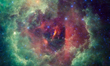 In a Grand Romantic Gesture, WISE Telescope Captures a Cosmic Flower in the Unicorn Constellation