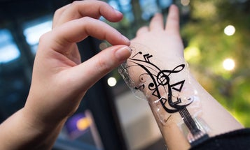 Control Your Smartphone With Stickers On Your Skin