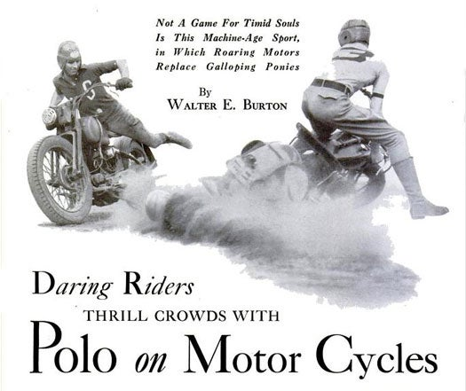 Motorcycle Polo: 1935