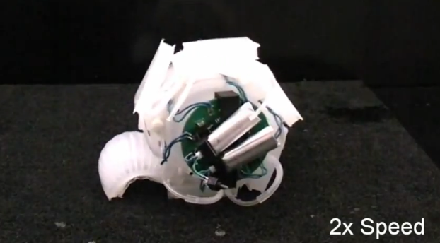Self-Contained Soft Robot Powered By On-Board Battery