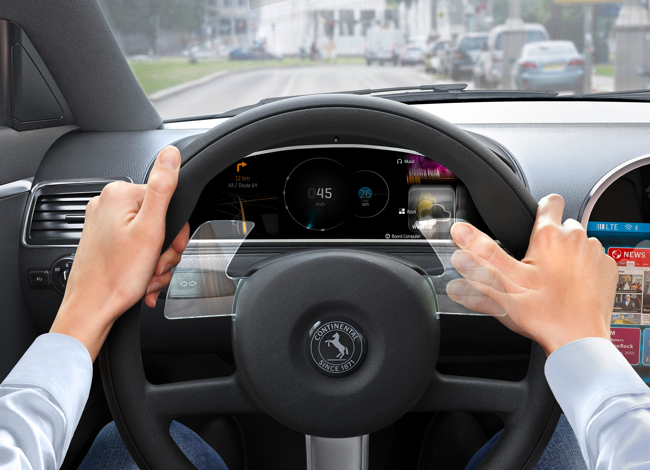 Continental Upgrades the Steering Wheel in One Swipe