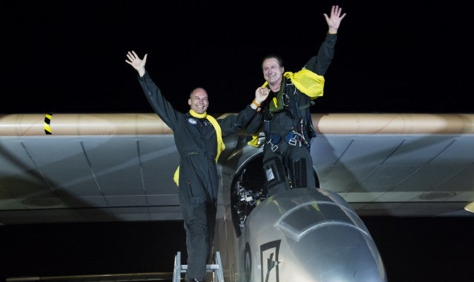 A Dramatic Finish For Solar Impulse, The Solar-Powered Plane That Flew Across The U.S.