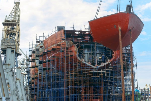The Arktika under construction
