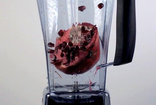 Slow-Motion Video: Blender Versus Pomegranate