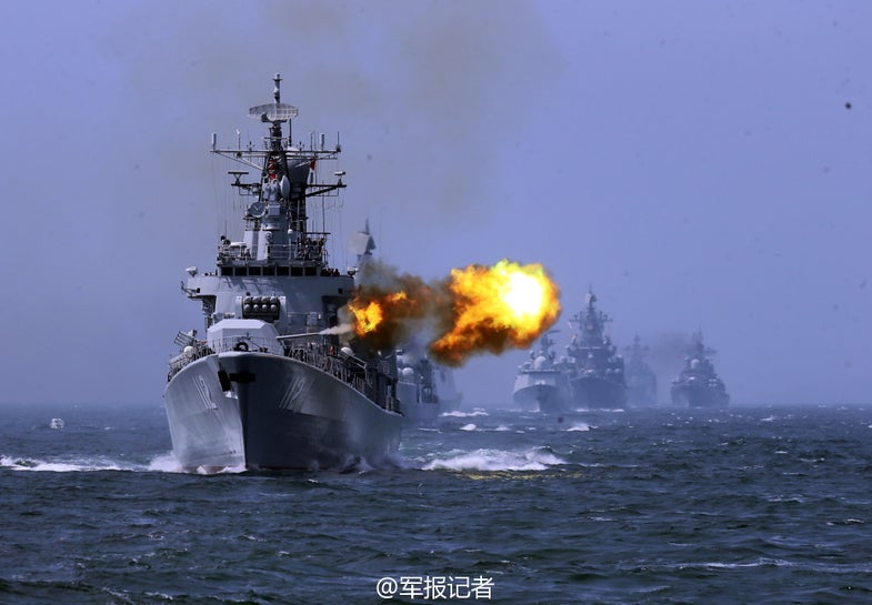 China Russia Navy 2014 Joint Sea Drill