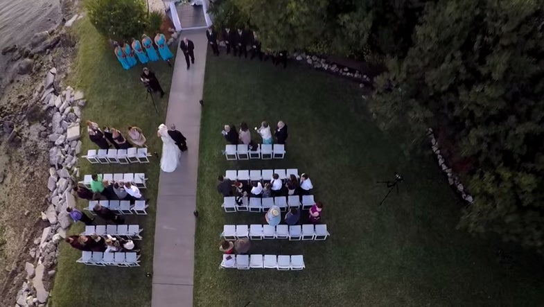 Five Of The Best Drone-Shot Wedding Videos