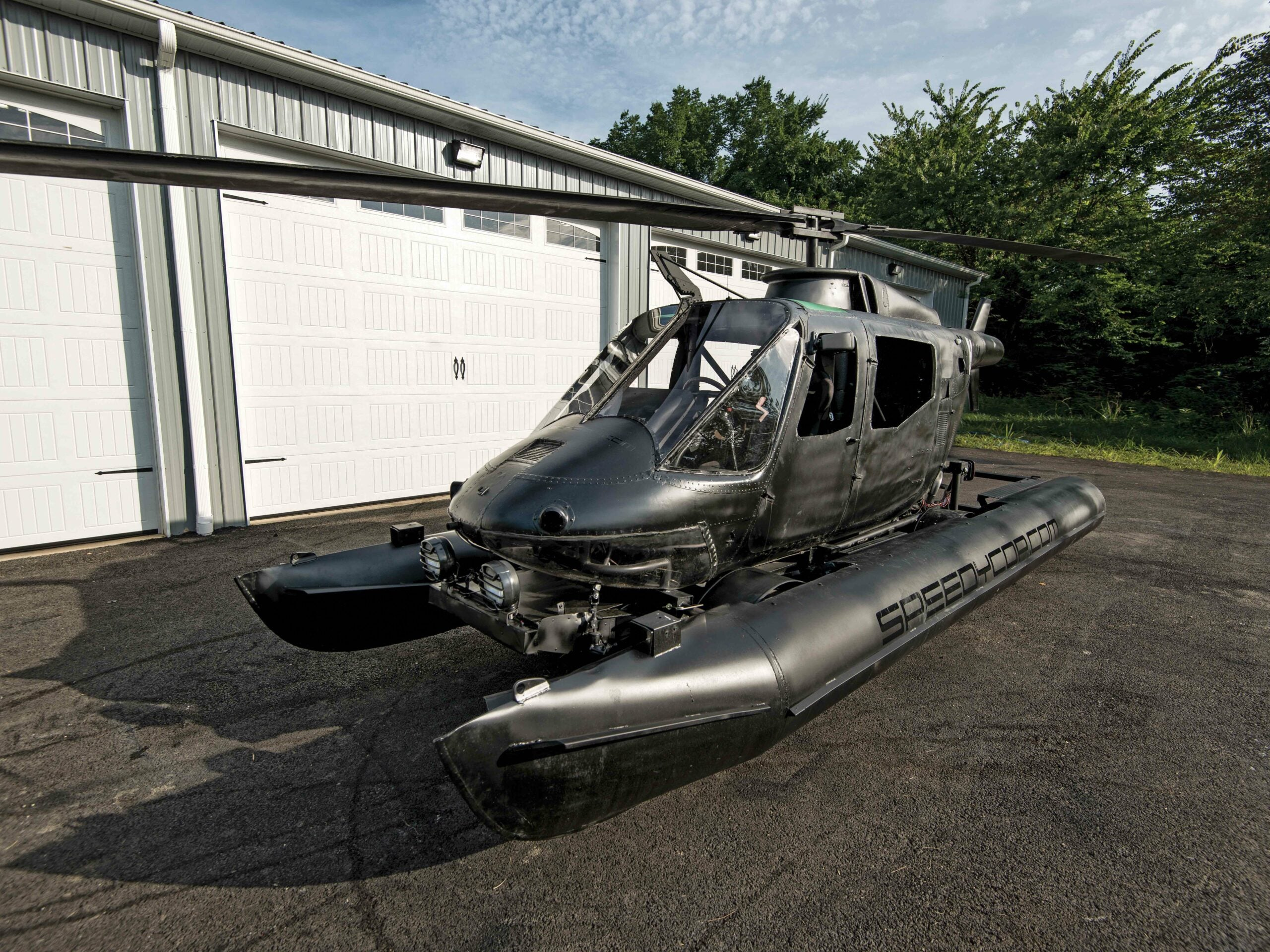 This Cop Turned A Helicopter Into An Amphibious Racecar