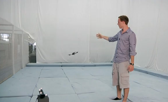 Video: Swiss Quadrocopters' Flight Controlled With Hand Gestures, Via Kinect