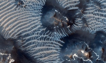 Big Pic: Blue Ripples In Martian Sand Dunes