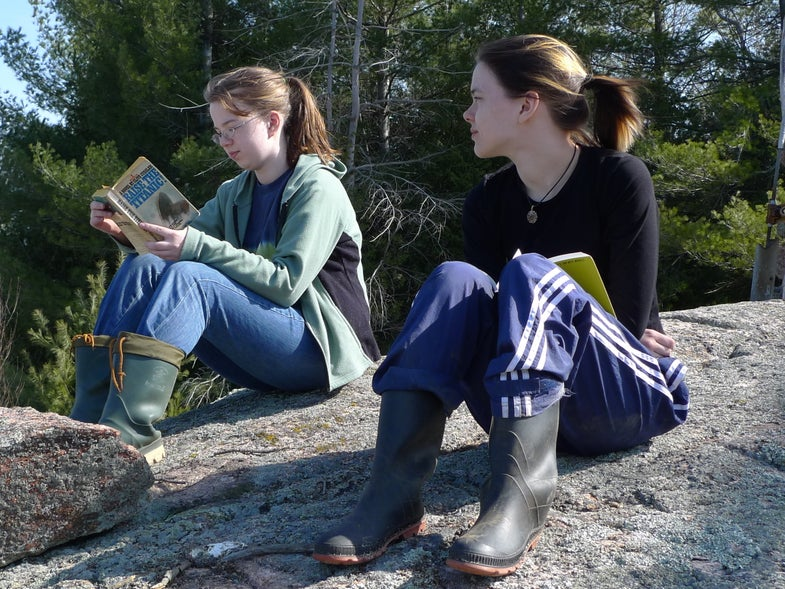 Gotta go outdoors? Bring a book