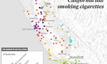 The air quality in San Francisco is so bad, being there for a day is like smoking 10 cigarettes