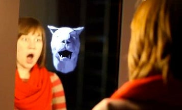 Video: Creepiest Mirror Ever Displays Ghostly Animal Heads Mimicking Your Facial Expression