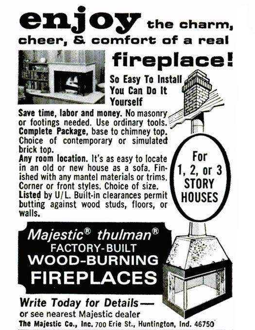 Fireplace: September 1967