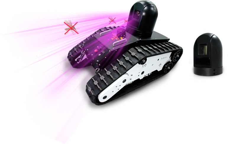 Laser Movable Mosquito Killer Robot