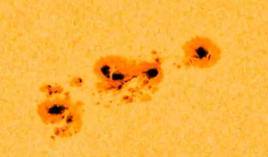 Video: SDO Captures a Sunspot Cluster Swimming Around On The Sun's Surface